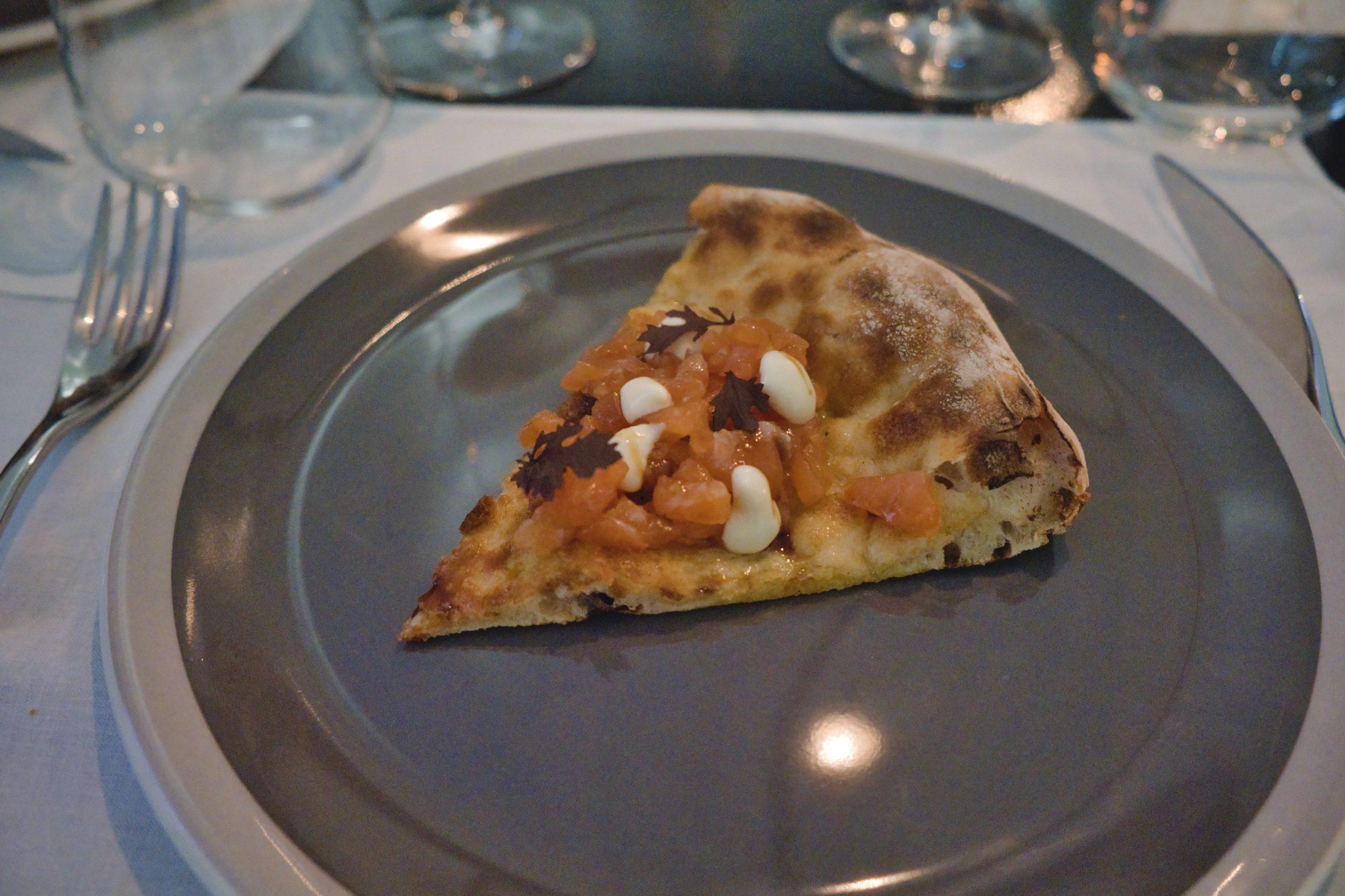 Pizza con trota, soia e sesamo di Luciano Viillani