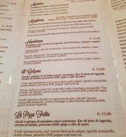 Il menu con le pizze de L'Antica Pizzeria da Michele Milano