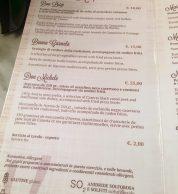 Il menu con gli antipasti de L'Antica Pizzeria da Michele Milano