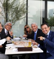 Alessandra Condurro e Balnibarbi a tavola (Da Michele Yokohama)