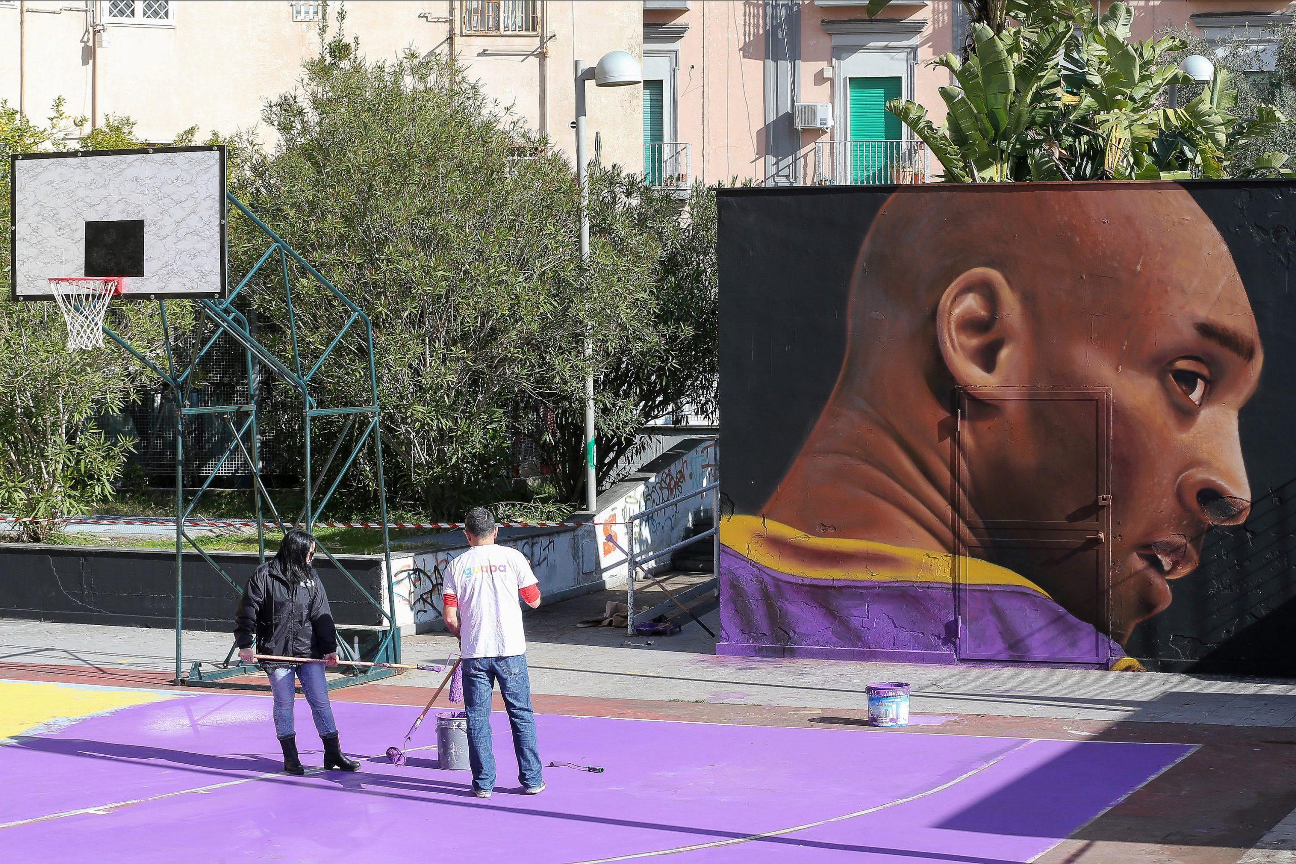 Murales di Jorit dedicato a Kobe Bryant