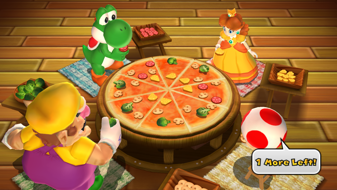 Pizza Minigame in Mario Party 9