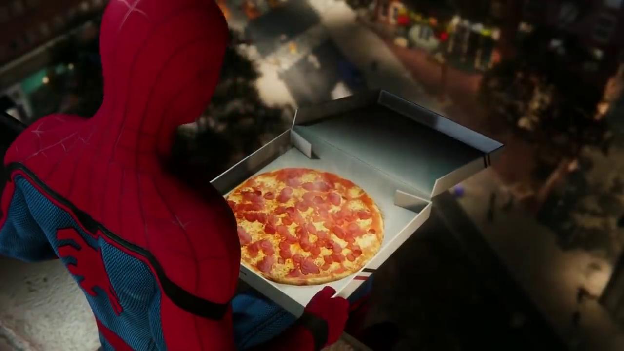 Spider-Man PlayStation 4 loves Pizza