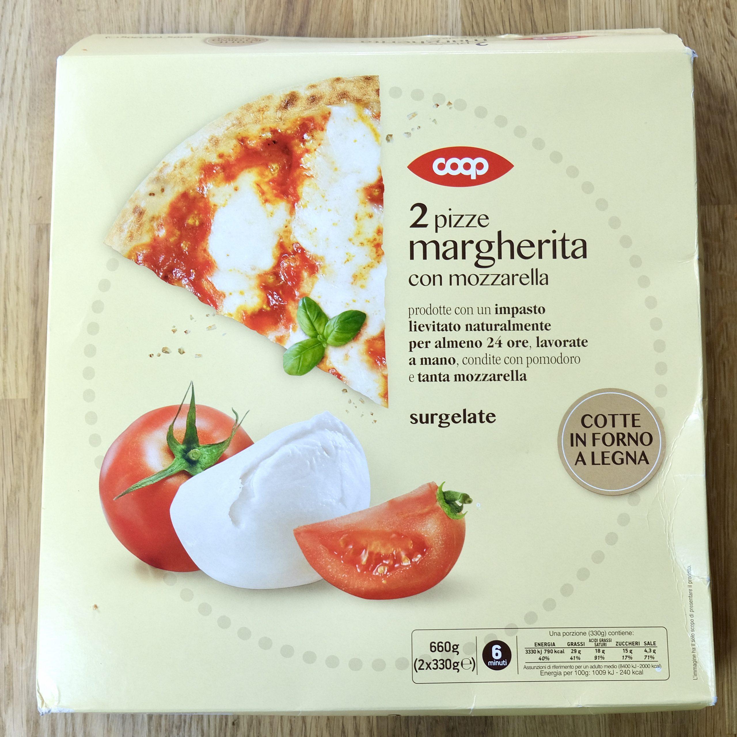 Confezione Pizza Margherita Surgelata Coop