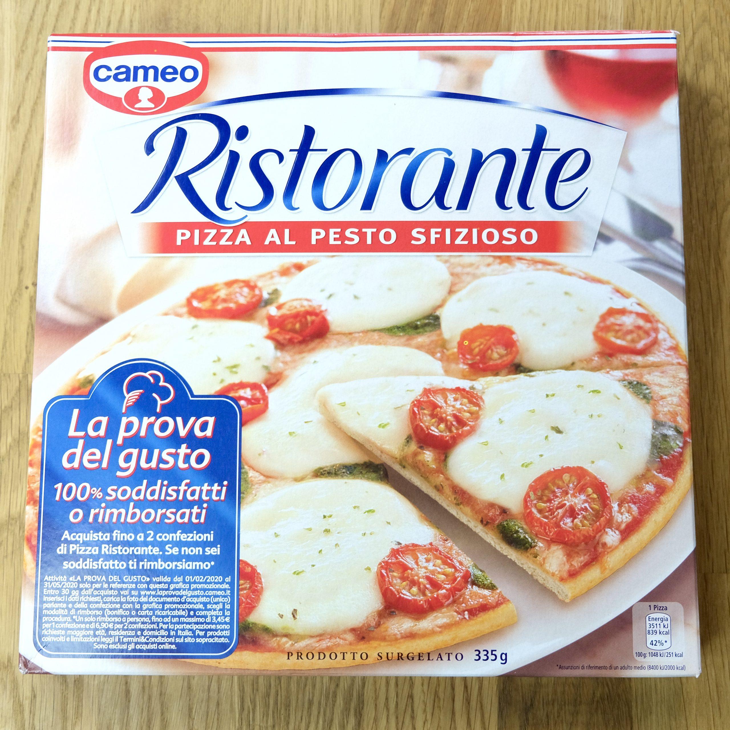 Confezione Ristorante Pizza al Pesto Sfizioso, Cameo
