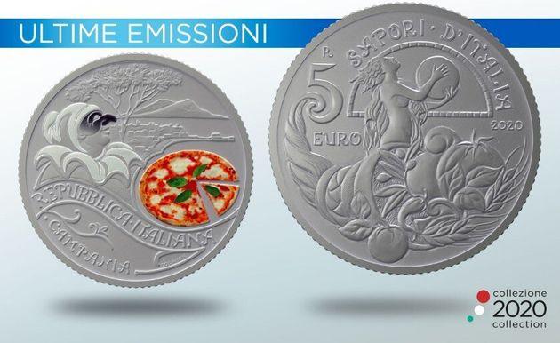 Pizza: la Zecca di Stato dedica una moneta alla Margherita