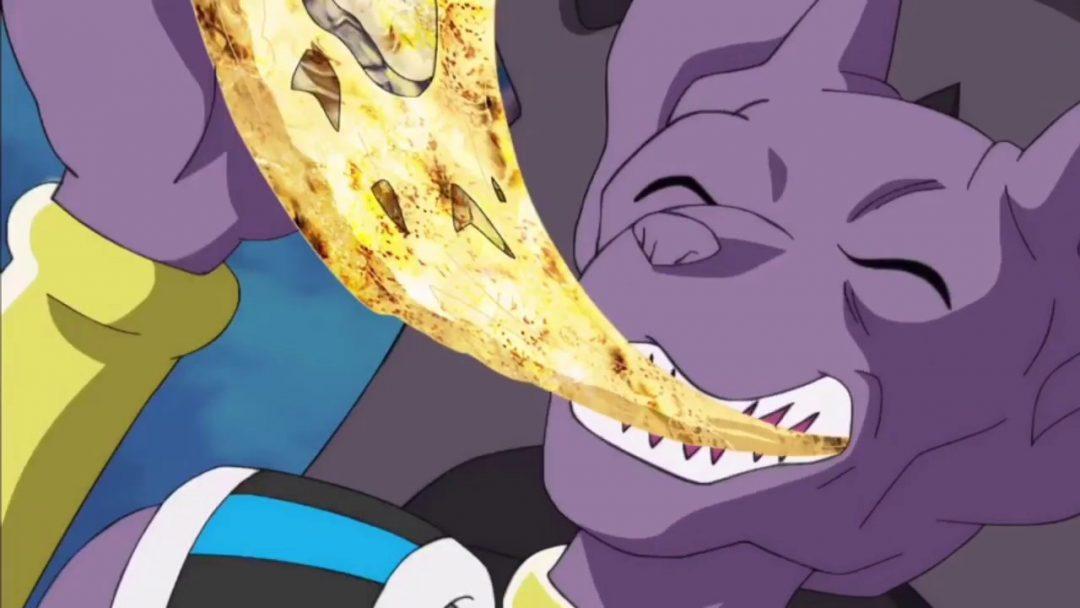 Beerus alle prese con un temibile nemico: la pizza col formaggio!