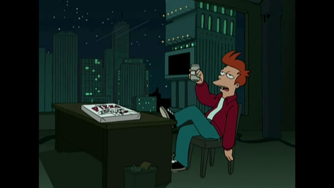La delusione di Fry e la pizza consegnata a T.O. fregato