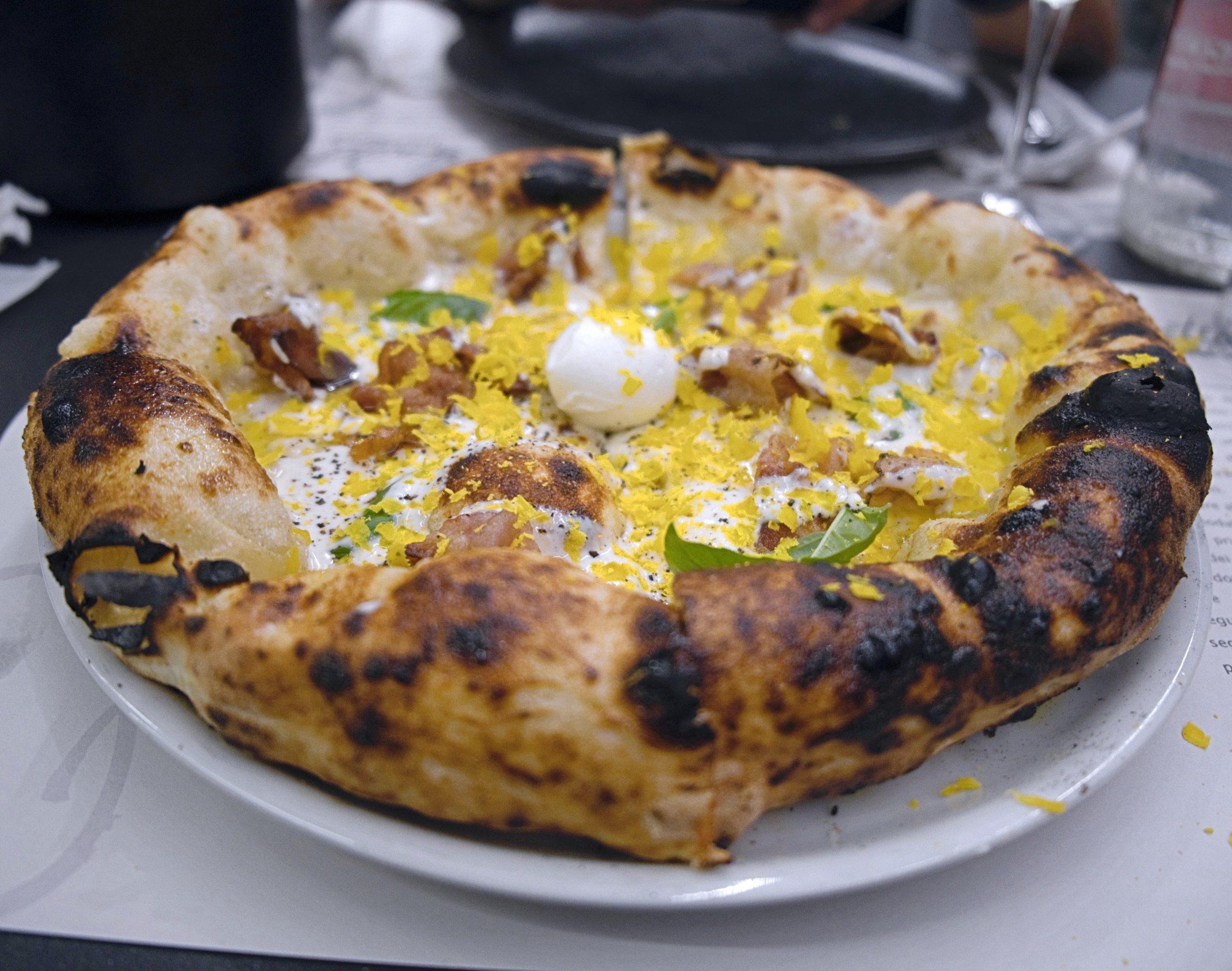 Carbonara (Pizzeria IQuintili Furio Camillo, Tuscolano)