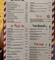 Menu (Pizzeria Millenium, Cusano Mutri, Benevento)
