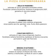 Menu settembre 2020 (Pizzeria Da Andrea, Perugia)