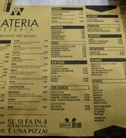 Menu (Pizzeria Materia, Cellole, Caserta)