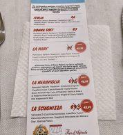 Menu febbraio 2020 (Pizzeria La Napoletana 2.0, Siena)