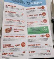 Menu2 febbraio 2020 (Pizzeria La Napoletana 2.0, Siena)