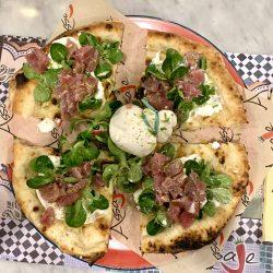 Burrata e tartare di tonno (Pizzeria Assaje, Isola M5, Milano)