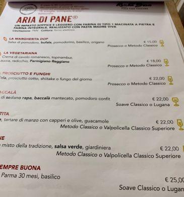 Menu (Pizzeria Saporè, San Martino Buon Albergo, Verona)