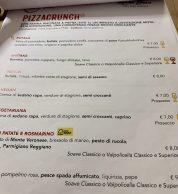 Menu2 (Pizzeria Saporè, San Martino Buon Albergo, Verona)