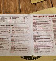 Menu (Pizzeria Piacere Totò, Perugia)