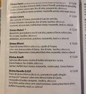 Menu (Pizzeria Divina Vietri, Vietri Sul Mare, Salerno)