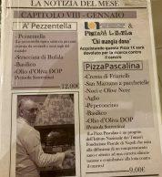 Menu (Pizzeria La Notizia 53, Fuorigrotta, Napoli)