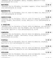 Menu1 (Pizzeria La Spiga, Pignataro Maggiore, Caserta)