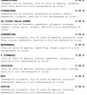 Menu2 (Pizzeria La Spiga, Pignataro Maggiore, Caserta)
