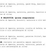 Menu3 (Pizzeria La Spiga, Pignataro Maggiore, Caserta)