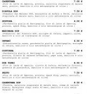 Menu5 (Pizzeria La Spiga, Pignataro Maggiore, Caserta)