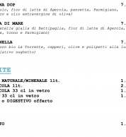 Menu6 (Pizzeria La Spiga, Pignataro Maggiore, Caserta)