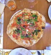 Calamaretti, broccoli e olive (Pizzeria La Tripletta, Shinagawa, Tokyo)