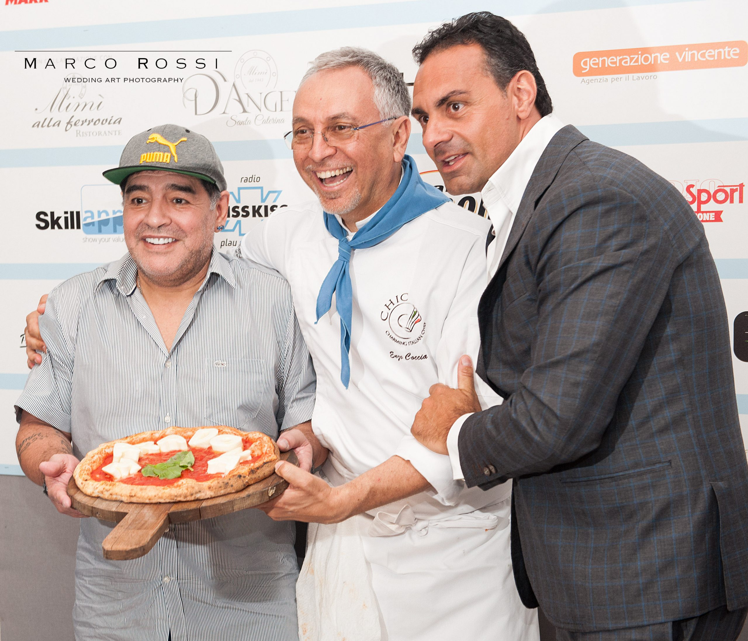 Enzo Coccia e Diego Armando Maradona