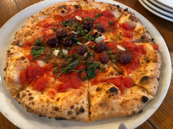 Pizza marinara (Lacco Ameno, Odawara)