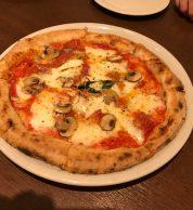Pizza ai funghi (Pizzeria Bel Gioco, Hofu)