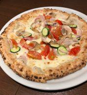 Bianca con verdure (Pizzeria Bel Gioco, Hofu)