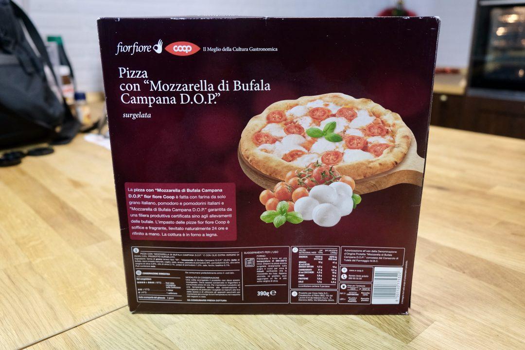 Confezione Pizza surgelata Fior Fiore Coop, retro