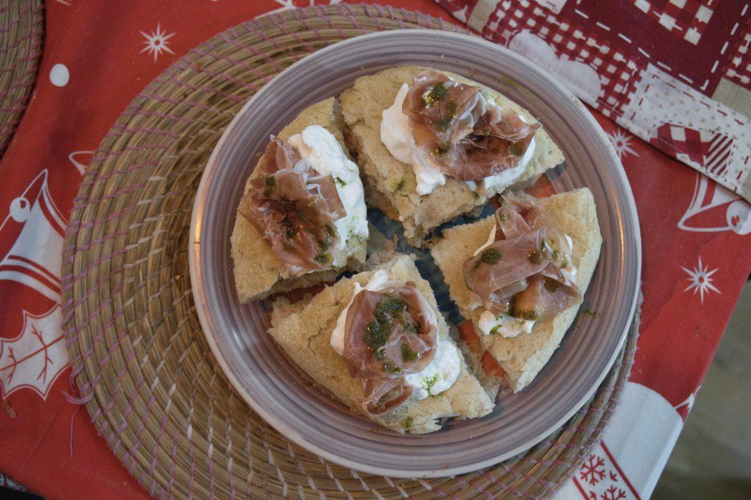 Aria di Pane con Burrata e Crudo Renato Bosco