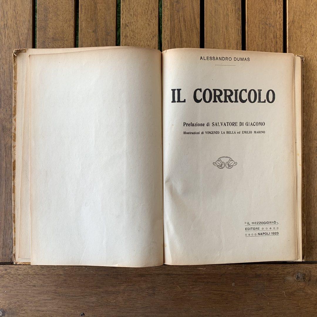 Il Corricolo di Alexandre Dumas 1923