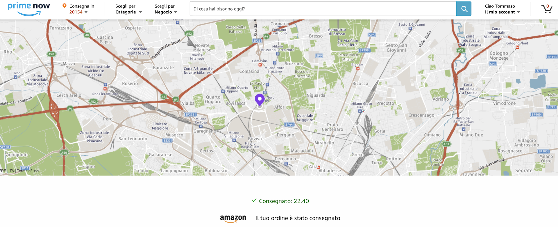 amazon fresh mappa