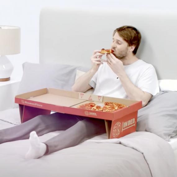 Pizza Box a letto