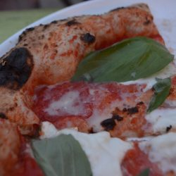 Dettaglio pizza (Pizzeria Wanderlust, Greenwich, Londra)