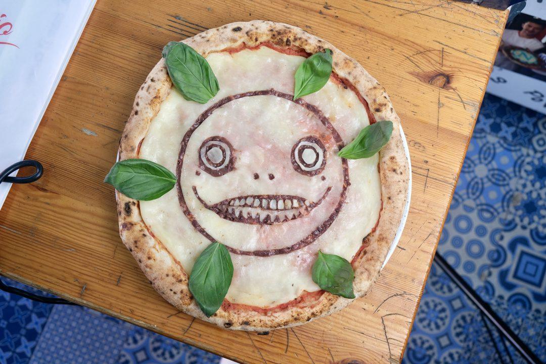Dettaglio Pizza NieR Ver. Emil realizzata da Errico Porzio