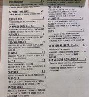 Menu (Pizzeria La Taverna dei Corsari, Montopoli di Sabina, Rieti)