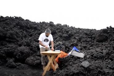 pizza lava vulcano