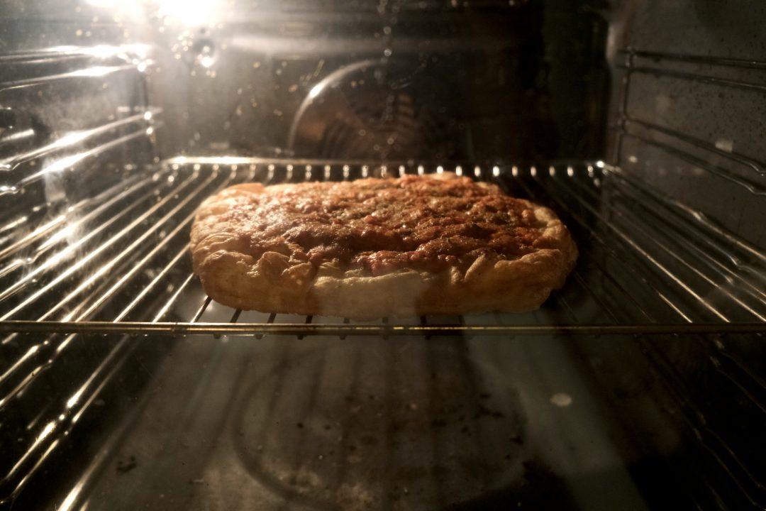"""La preparazione di """"Futuro di Marinara"""" in forno"""