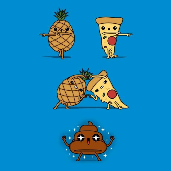 Ananas e pizza