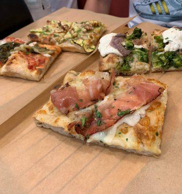 Pizza in teglia romana (Steccapara, Bologna)