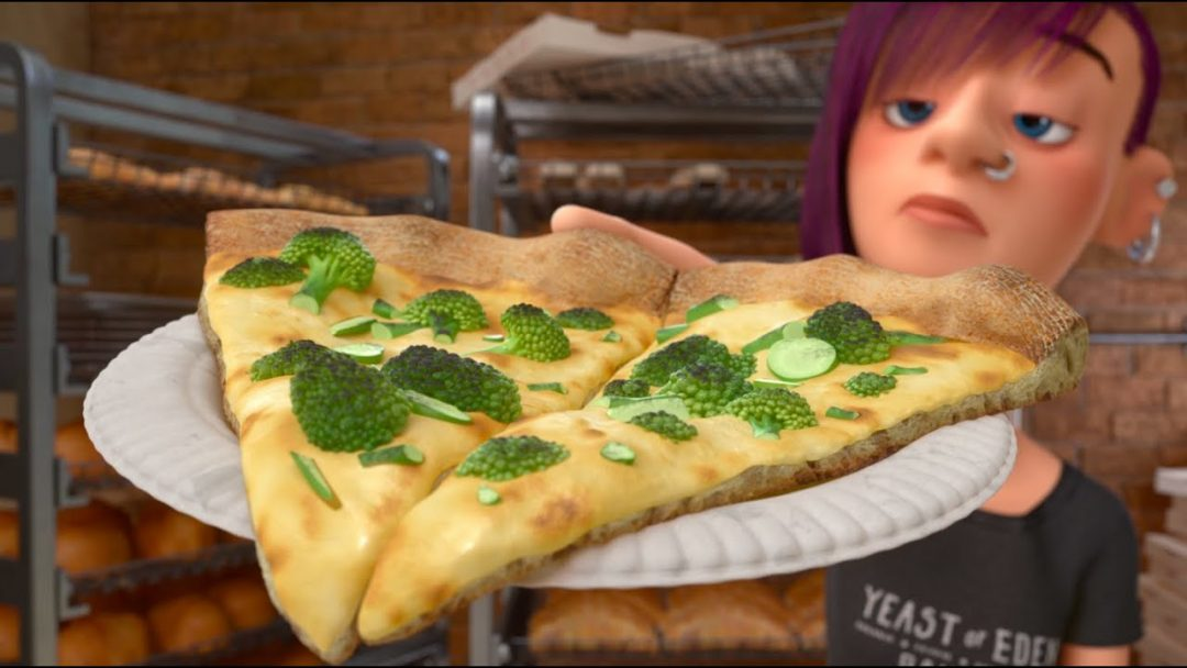 Pizza inside out