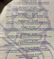 Menu Pizze speciali (Pizzeria Pirozzi, Ischia)