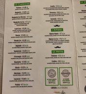 """Menu Pizze classiche (Pizzeria Onda Verde """"Da Finistone"""", Mondragone)"""