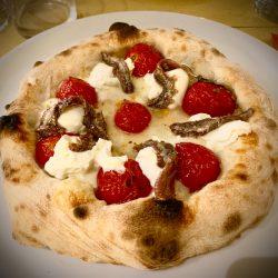 Pizza burrata alici (Banco del vino, Bologna)